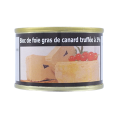 Block of truffled foie gras (3% truffles) – 70g