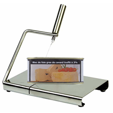 Stainless steel foie gras slicer