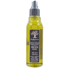 Huile d'olive vierge extra aromatisée truffe noire, en spray 100ml