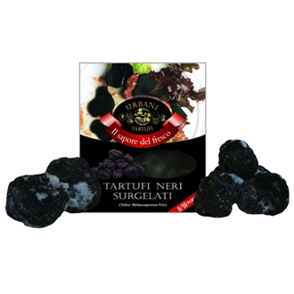 Frozen small whole and pieces of black truffles 200 g